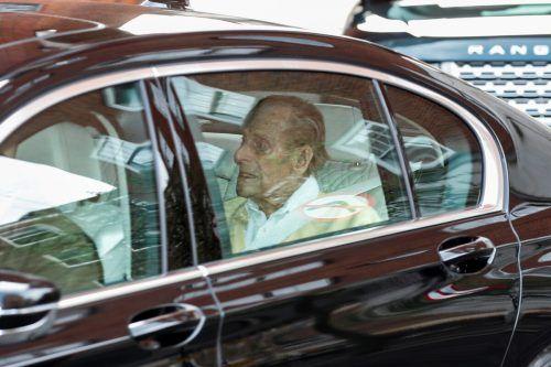 Prinz Philip hat am Dienstag das Krankenhaus verlassen.Reuters