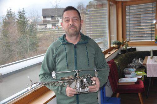 Robert Winkler aus Ludesch hat seinen Traumberuf als Hubschrauberpilot gefunden. HAB