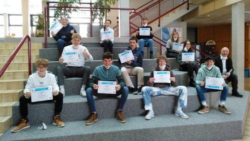 Schülerinnen und Schüler der 6bn Klasse des BORG Egg absolvierten große Teile der Schulung im Eigenstudium während der Lockdownphase.ME