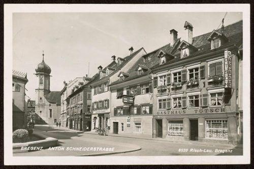 So sah das Lokal in Bregenz einmal aus. Sammlung Risch-Lau, Landesbibliothek