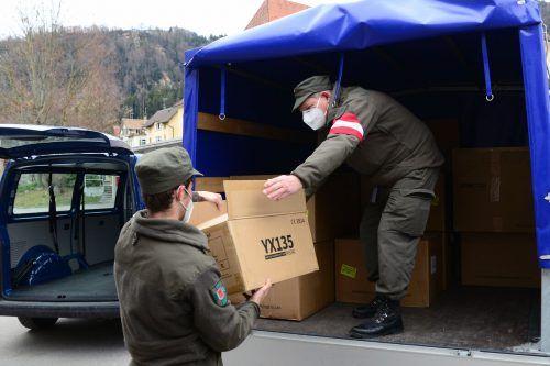 In sechs Teststationen Vorarlbergs dienen Soldaten. Hinzu kommt die Testkit-Logistik und das Contact Tracing. Bundesheer