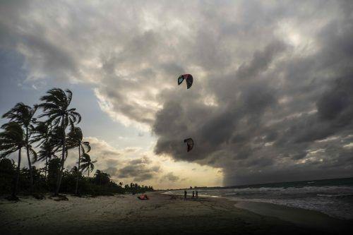 Strandtag in Varadero, Kuba: Wegen der Pandemie ist die Besucherzahl gering, Touristen bleiben fern. AP