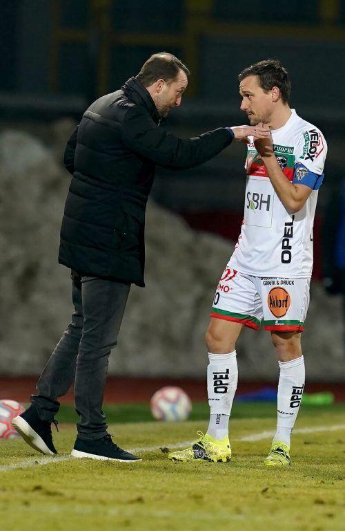 Trainer Ferdinand Feldhofer und Michael Liendl waren oft nicht einer Meinung.gepa