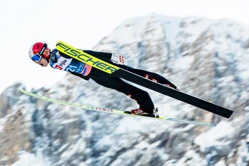 Ulrich Wohlgenannt wurde nach seinem Rekordflug in der Qualifikation bei der Materialkontrolle gestoppt und durfte nicht starten.GEPA
