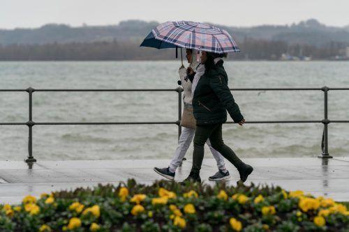 Unwirtlich war das Wetter auch schon am gestrigen Sonntag. VN/Stiplovsek