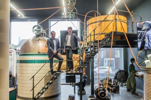 V.l.: Thomas Pachole und Heinz Huber steuerten die Brauerei durch stürmische Zeiten und haben für heuer große Pläne. VN/PS