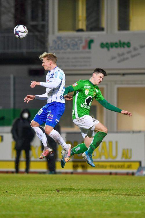 Zum Wegschauen: Austria Lustenau kassierte die vierte Niederlage im vierten Spiel.Gepa