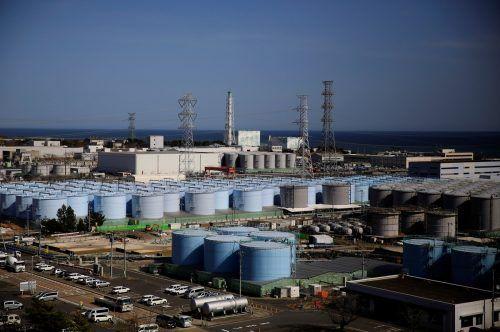 1,3 Millionen Tonnen Kühl- und Regenwasser, die aus den Reaktorgebäuden abgepumpt wurden, lagern in mehr als 1000 Tanks auf dem Kraftwerksgelände. Reuters