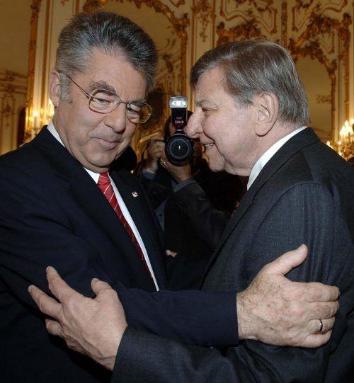 2005 mit Bundespräsident Heinz Fischer in der Hofburg.