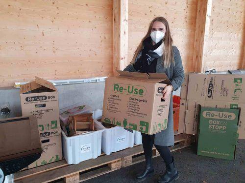 2,3 Tonnen wurden allein in Feldkirch in den Re-Use-Boxen abgegeben. Gemeindeverband