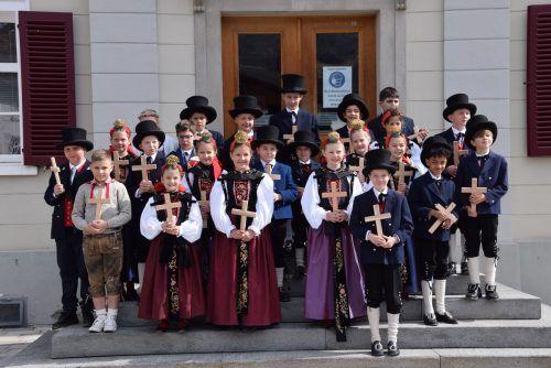24 Schrunser Kinder konnten am Ostermontag ihre Erstkommunion feiern.SCOpoli