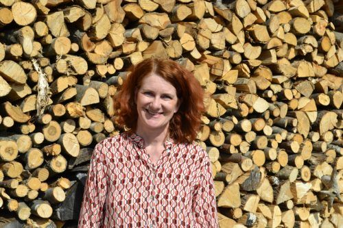 Alexandra Wucher ist um das Kulturgut Ruine Blumenegg bemüht.BI