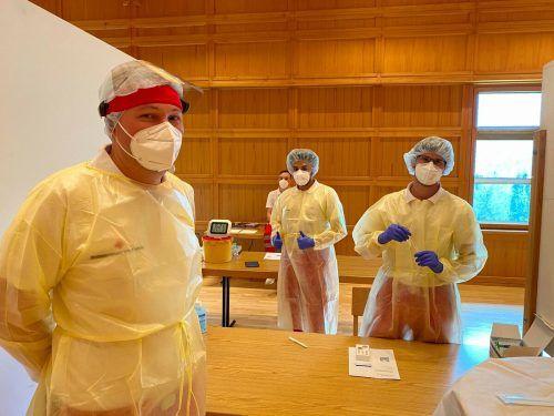 Allein in Schwarzenberg sind täglich 5000 Tests möglich. VN/Rauch