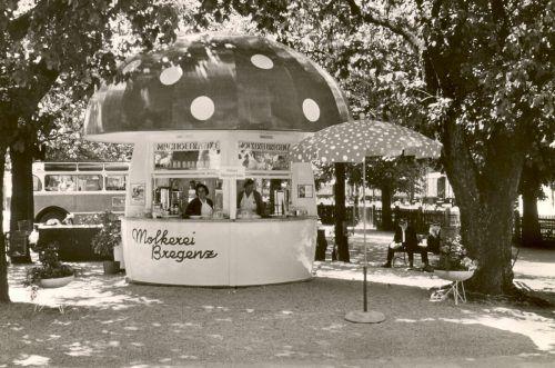 Am Haupteingang zur Bregenzer Seeanlage steht der am 20. Juli 1953 ausgelieferte Milchpilz. Eigentümer ist die Vorarlberg Milch eGen. Milchpilz e.U.