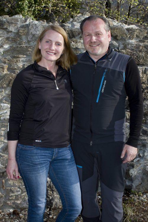 Angelika Benzer und Bgm. Harald Witwer meisterten den Aufstieg.