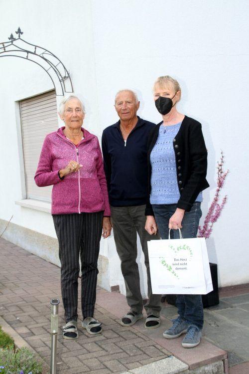 Auch Familie Nothdurfter freute sich am Sonntagmorgen über den Besuch.
