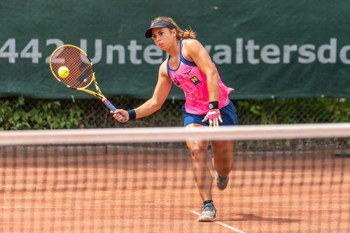 Auf dem Weg zu ihrem neunten ITF-Titel beim 60.000er in Bellinzona gab Julia Grabher in fünf Partien lediglich zwei Sätze ab. GEPA