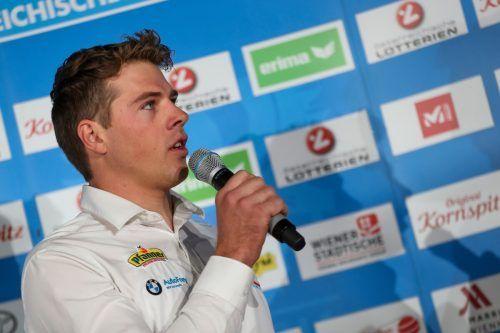 Benjamin Bildstein bleibt in der Olympia-Vorbereitung fokussiert.gepa