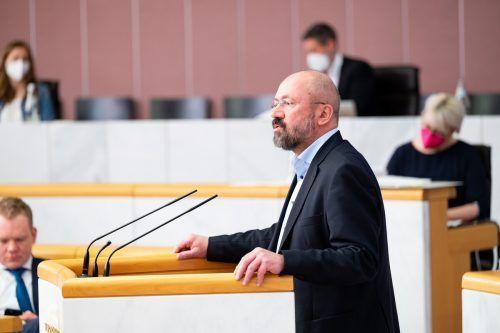 Bernie Weber, Kultursprecher der Grünen, bei der Landtagsdebatte. serra