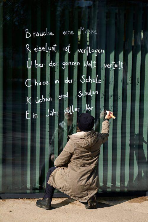 Bis Ende Mai zieren Gedichte den öffentlichen Raum. MG Lustenau