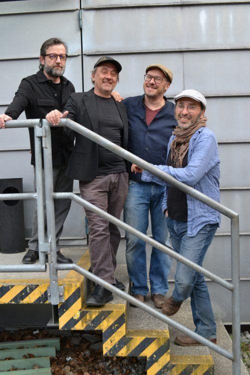 Das Laternen Quartett mit Herbert Walser-Breuss, Florian King, Carlo Lorenzi und Andreas Paragioudiakis (v. l.)BI