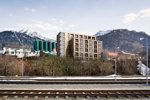 Das neue Hotel Alpstadt wird das Bild am westlichen Eingang von Bludenz merklich verändern.Fohren Center