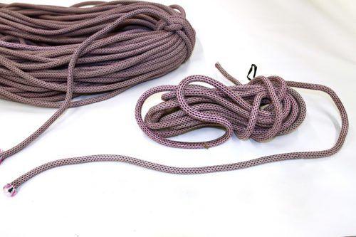 Das Seil wurde von einem Unbekannten durchgeschnitten. POLIZEi