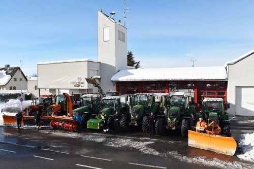 Das Team des Lochauer Bauhofs mit dem Maschinenpark ist tagtäglich für die Bevölkerung im Einsatz. Gemeinde Lochau