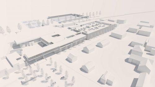 DasRendering des neuen Werkes in der Schweizerstraße in Hohenems. collini