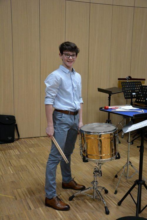 David Nussbaumer wurde Erster und kann am Bundeswettbewerb teilnehmen.