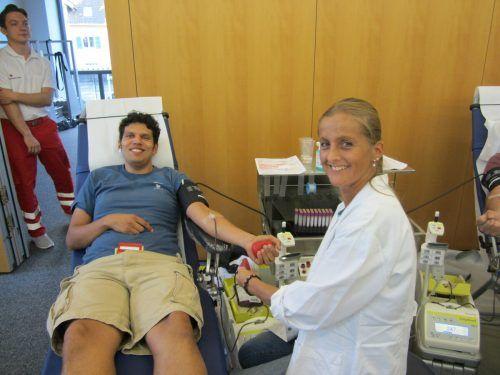 Am 26. April kann im Feuerwehrhaus in Dornbirn Blut gespendet werden.Blutspendedienst