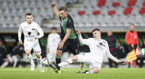 Der FC Dornbirn musste gegen Wacker Innsbruck die siebte Niederlage in Folge hinnehmen.gepa