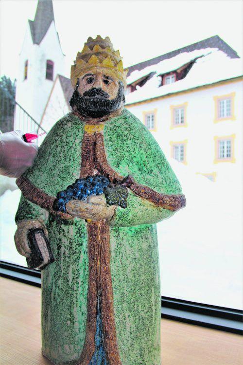 Der heilige Papst Urban wird in der Propstei geimpft. Nathalie Morscher