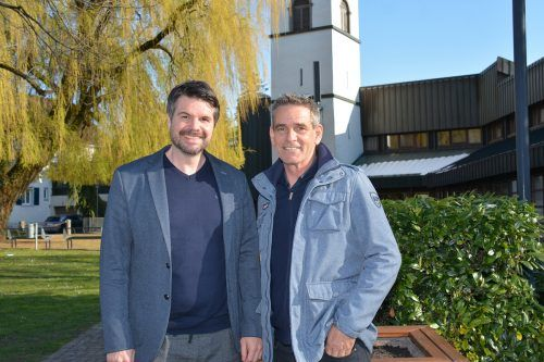 Der neue Gemeindesekretär Markus Baldauf und Bürgermeister Peter Böhler.