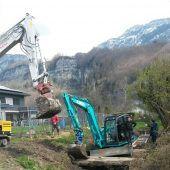 Sanierungsarbeiten am Ermengraben