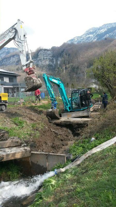 Der vierte Bauabschnitt der Sanierung am Hohenemser Ermengraben ist diese Woche angelaufen. Stadt