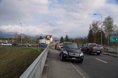 Der Vorfall geschah beim Grenzübergang Oberriet-Meiningen. KAPO
