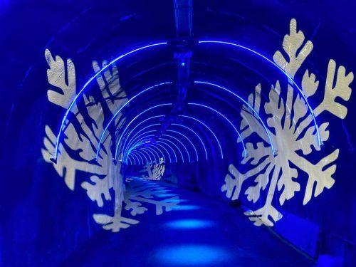 Der Winterzugangstunnel in der Silvretta wird dank Licht- und Soundinstallationen ab diesem Frühjahr zu einem außergewöhnlichen Kunstraum.GSL Tourismus