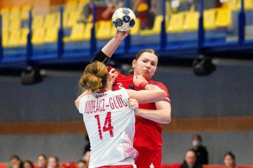 Die 18-jährige Katerina Pandza erzielte fünf Tore beim 29:29 gegen Polen.GEPA