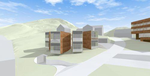 Die acht Chalet-Suiten werden in Modulbauweise errichtet.