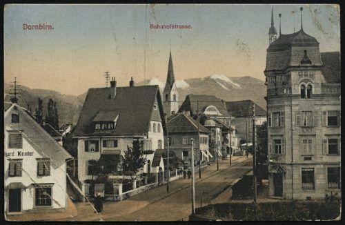 Die Bahnhofstraße Richtung Marktplatz 1914.