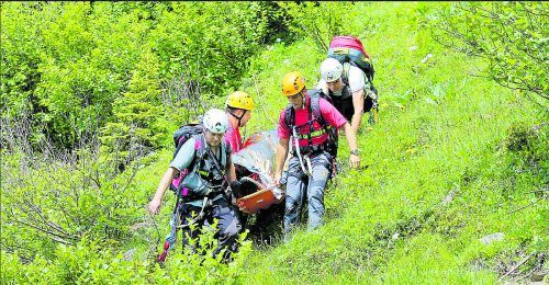 Die Bergrettung Dornbirn barg die verunfallte Frau. SYMBOL/BERGRETTUNG DORNBIRN