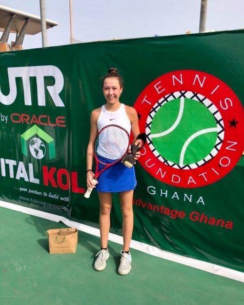 Die Bludenzerin Mia Liepert spielte beim Turnier in Accra groß auf.Privat