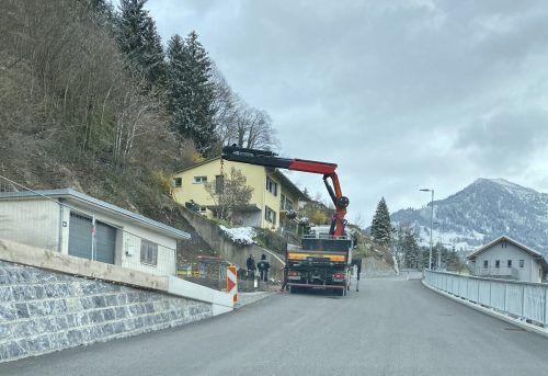 Die ersten Vorarbeiten für die zweite Bauetappe an der Faschinastraße wurden bereits getätigt. VN/JS