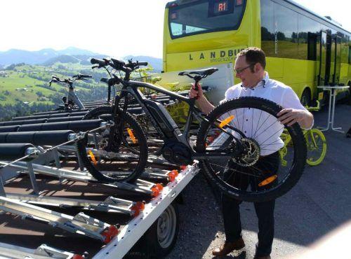 Die Fahrrad-Bus Linie R1 ist im Bregenzerwald wieder vom 3. Juni bis 3. Oktober unterwegs.