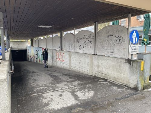Die fußläufige Unterführung in der Bludenzer Wichnerstraße soll im Frühjahr eine deutliche Aufwertung erfahren. VN/JS