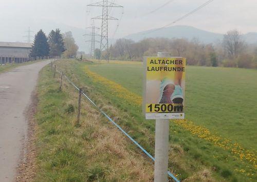 Die insgesamt drei Kilometer lange Strecke ist beschildert.Mäser