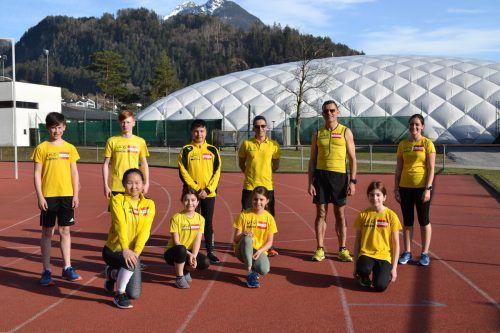 Die Jugendlichen und Trainer des ULC Bludenz freuten sich, endlich wieder trainieren zu dürfen. BI