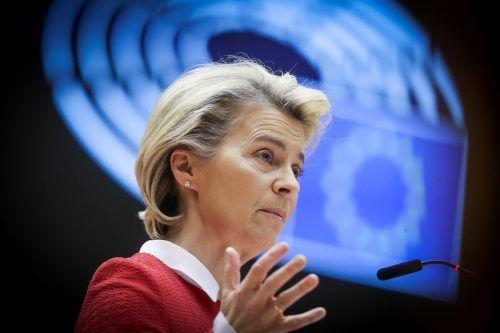 Die Kommissionschefin plädierte im Europaparlament für die Annahme. reuters