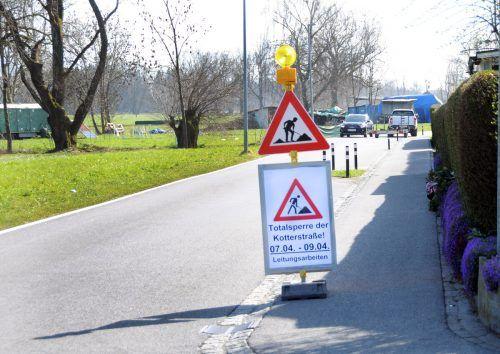 Die Kotterstraße im Harder Ortsteil Erlach ist vom 7. bis zum 9. April nicht befahrbar. ajk